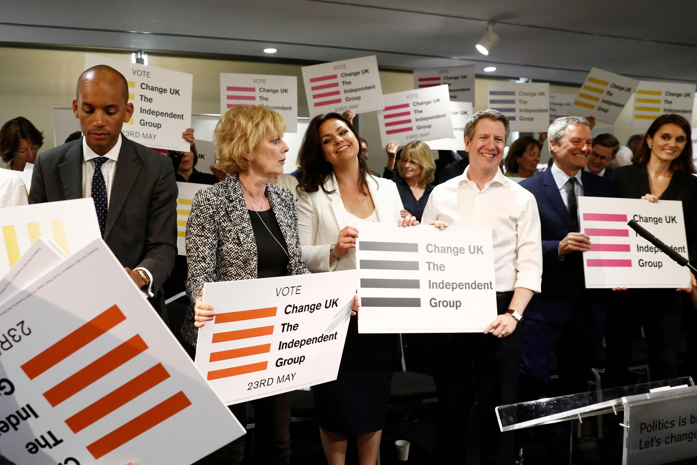 Change UK launched its EU election campaign today