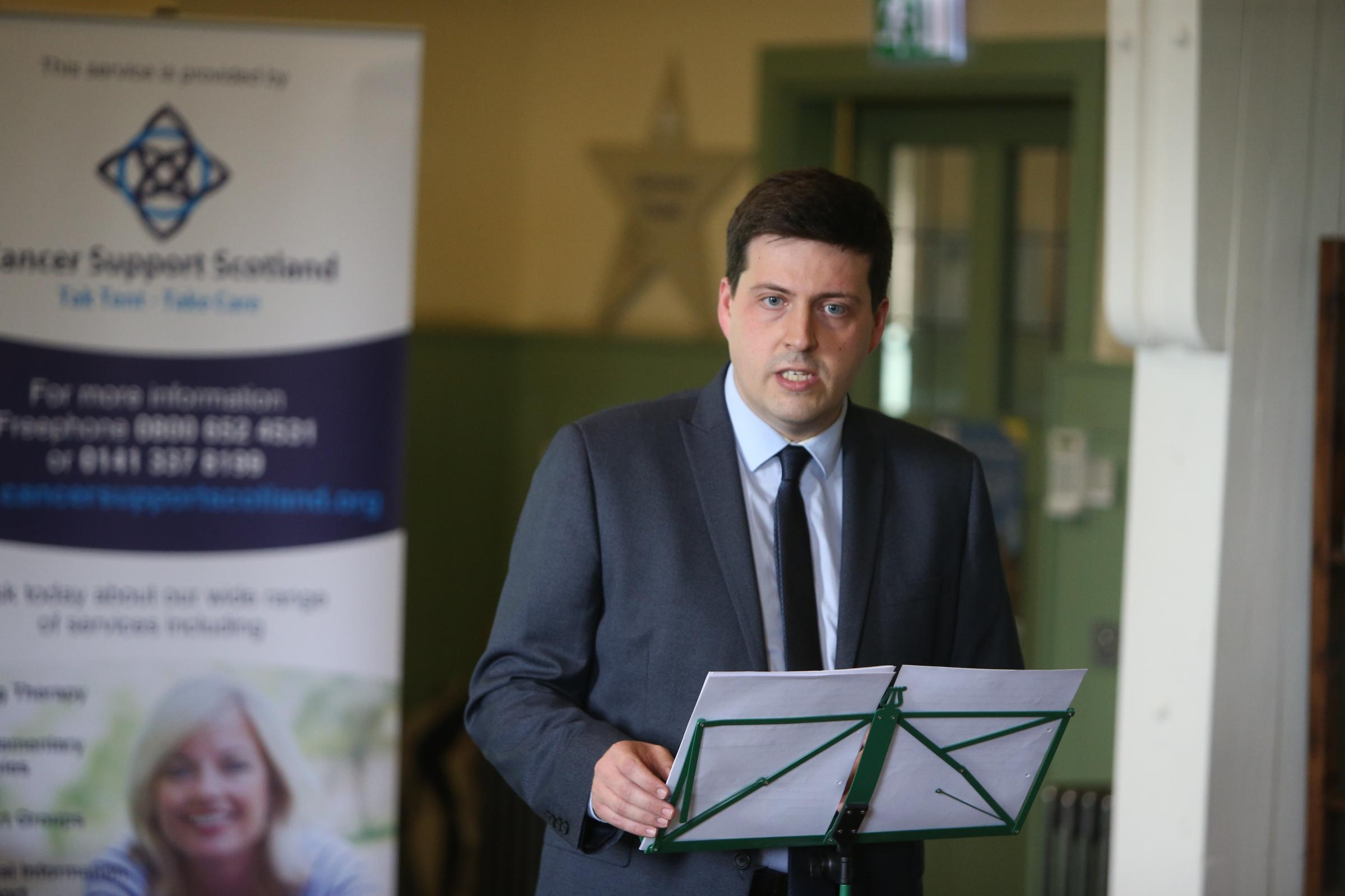 Business Minister Jamie Hepburn hit out at Universal Credit. Photograph: Colin Templeton
