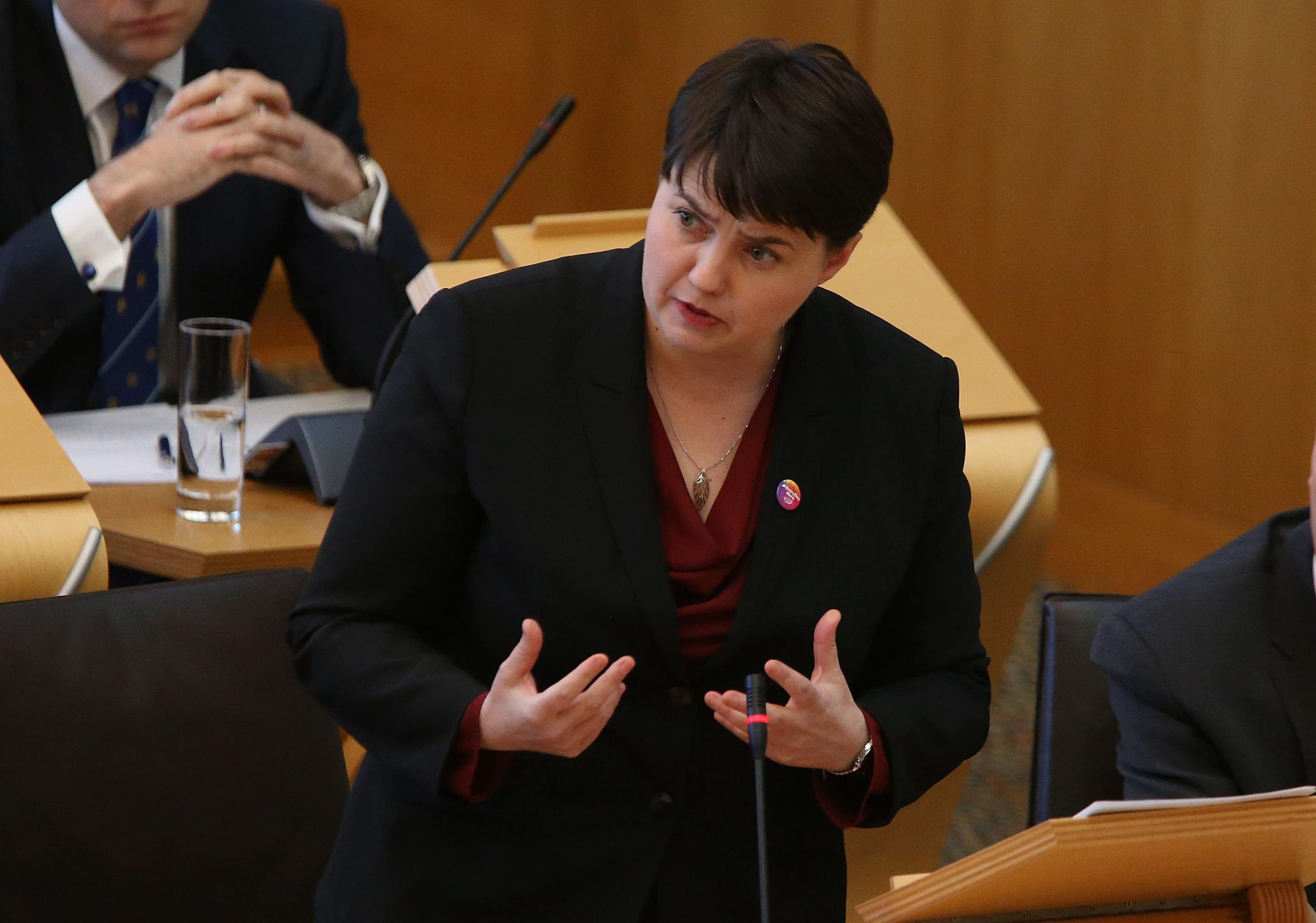 Ruth Davidson claimed Nicola Sturgeon lacks a 'domestic record worth talking about'