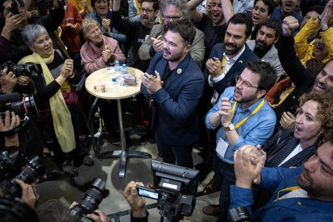 ERC representatives celebrated their showing in the Spanish election