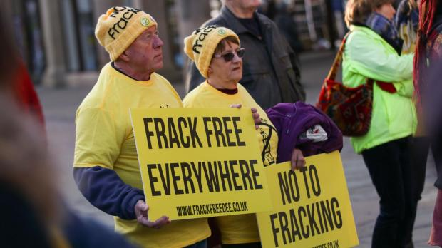 The National: People have protested fracking across the country