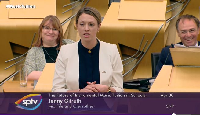 Jenny Gilruth made her colleagues chuckle with the comment