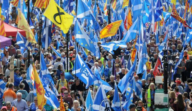 A Yes activist has spotted an opportunity to get people talking about independence