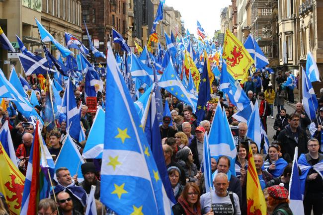 The poll also put support for independence at 49%