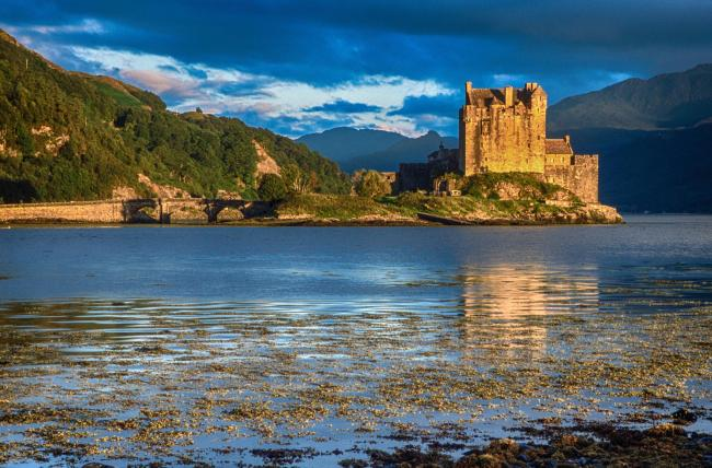 Parts of Eilean Donan Castle dated from the 13th century when it was destroyed