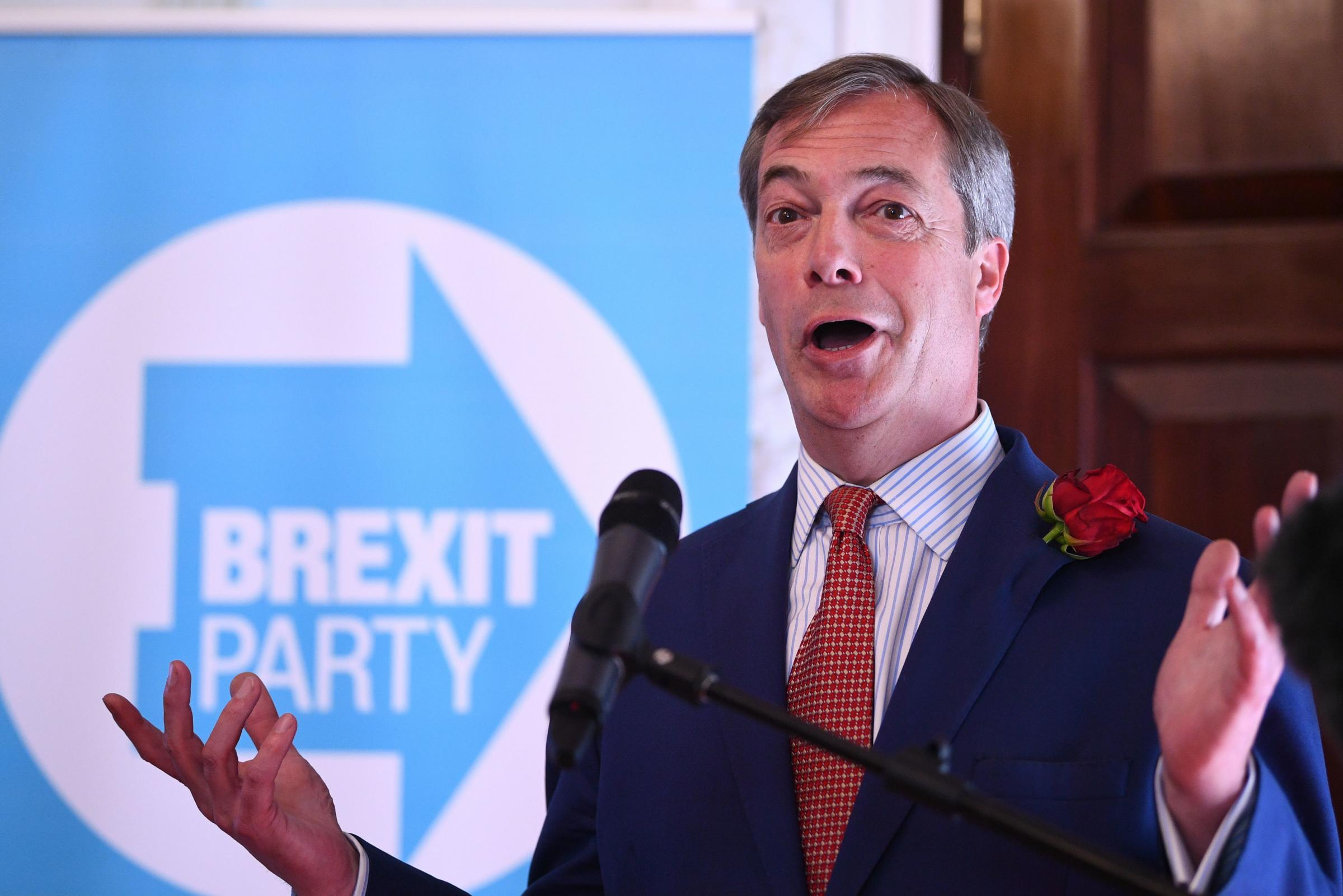 Nigel Farage moaned about the lack of mainstream airtime for his party
