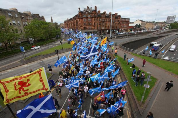The National: The 'War on Cybernat' story came the day after a huge march for independence