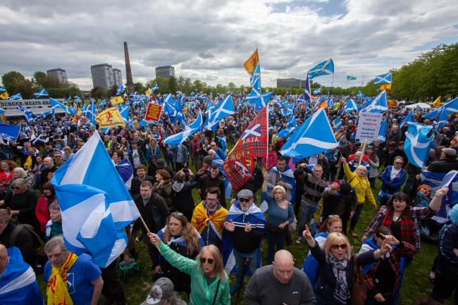 Independence supporters are expected to gather in their thousands for AUOB in Galashiels. Photograph: Colin Mearns