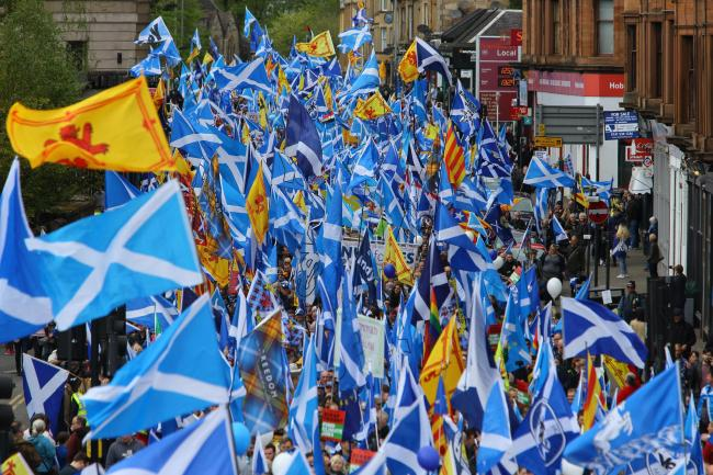 The All Under One Banner march in Glasgow went off without a hitch. Photograph: Colin Mearns