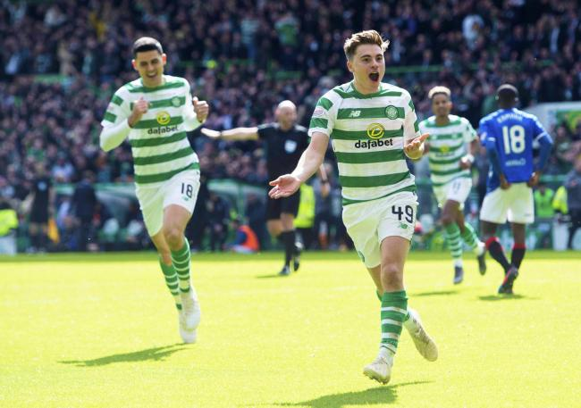 James Forrest's winner against Rangers moved Celtic out of sight at the top of the table.