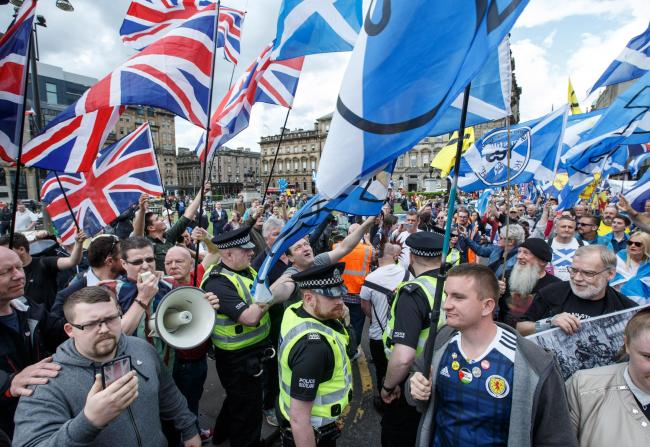 The verbal attack was launched in George Square