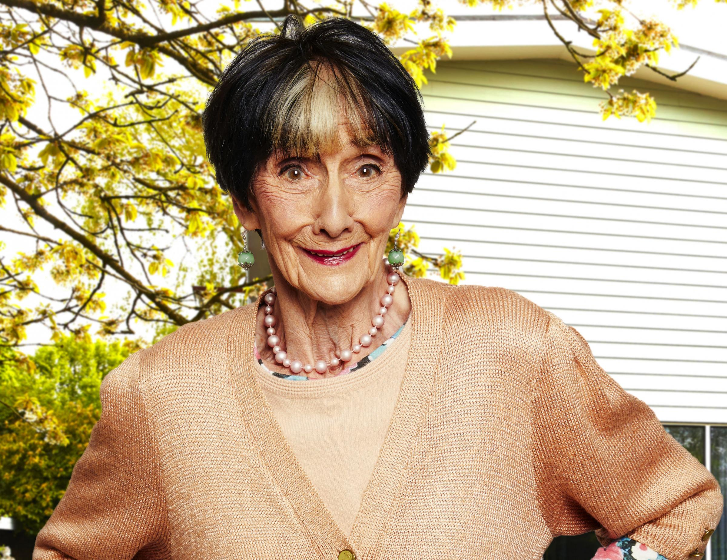 June Brown tries out a cutting-edge pooper-scooper in Hard To Please OAPs
