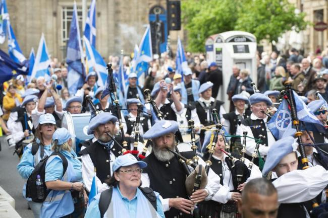 Saor Alba band members have travelled to Catalonia
