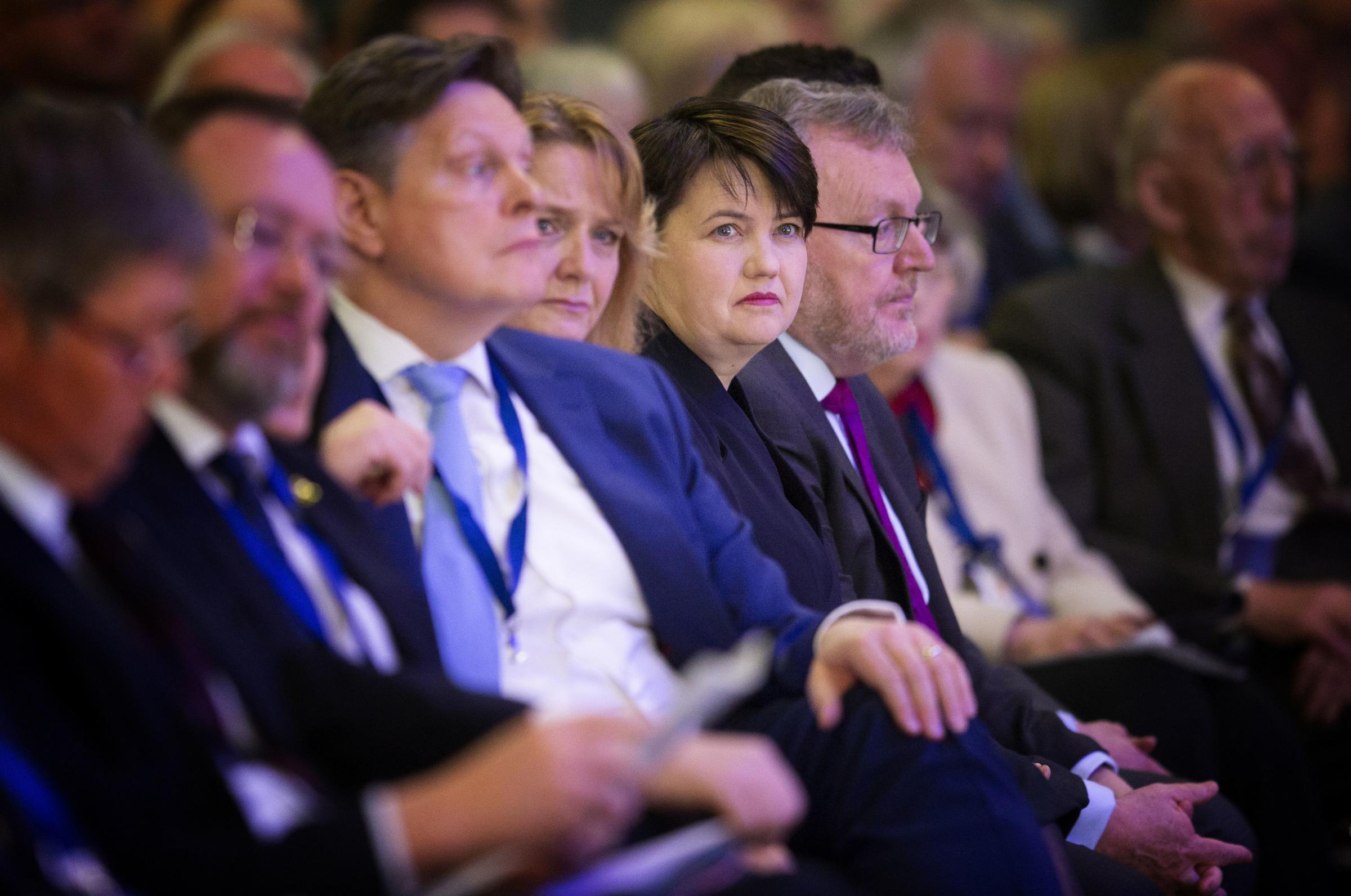 Ruth Davidson gave a speech at the Scottish Tory conference at the weekend