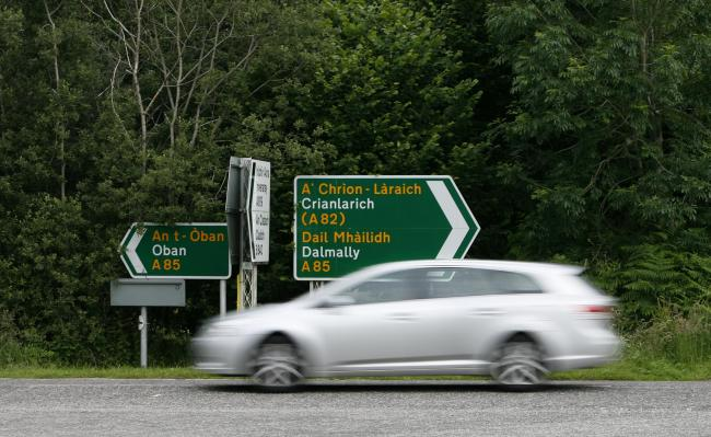 Much of Scotland has bilingual Gaelic-English road signs
