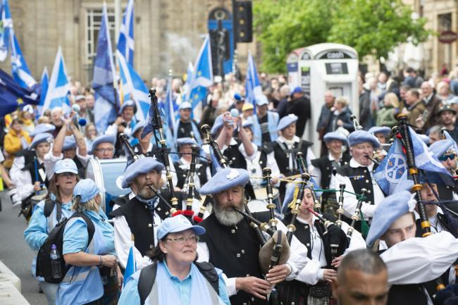 Saor Alba pipes and drums drew praise from the SNP's depute leader