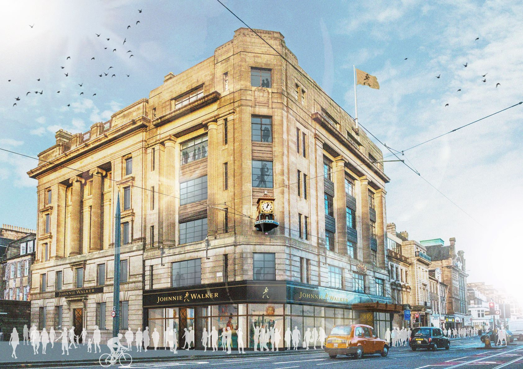 Johnnie Walker whisky tourist site at former Frasers store gets go-ahead
