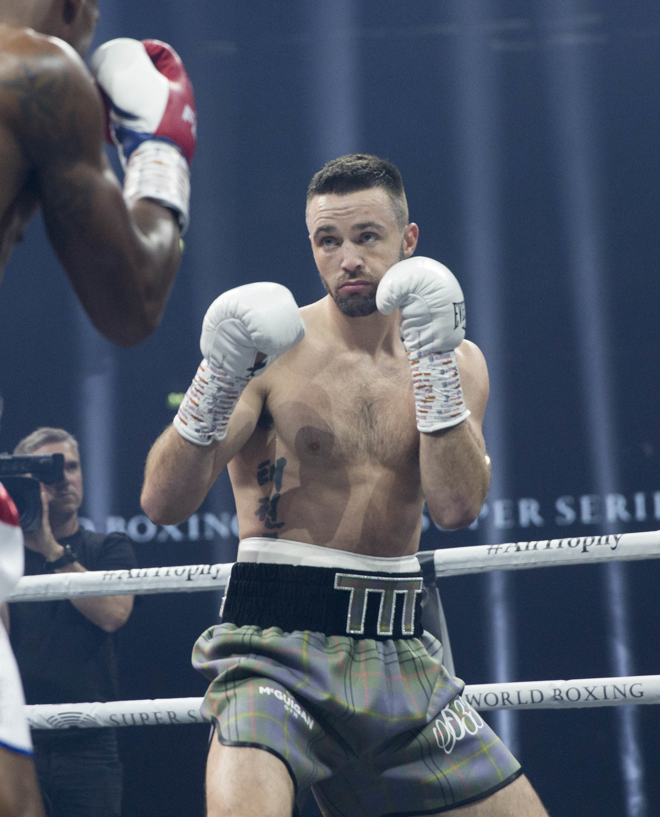 Josh Taylor against Ryan Martin super lightweight WBC silver championship fight  at The SSE Hydro, Glasgow.