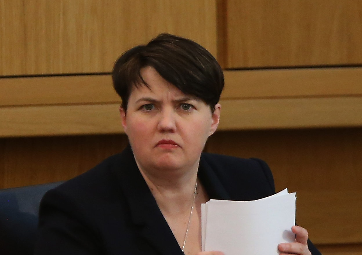 Ruth Davidson returned to FMQs for the first time since giving birth