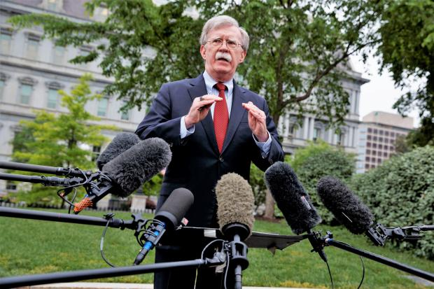 The National: US National Security Advisor John Bolton has been ramping up the pressure on Iran