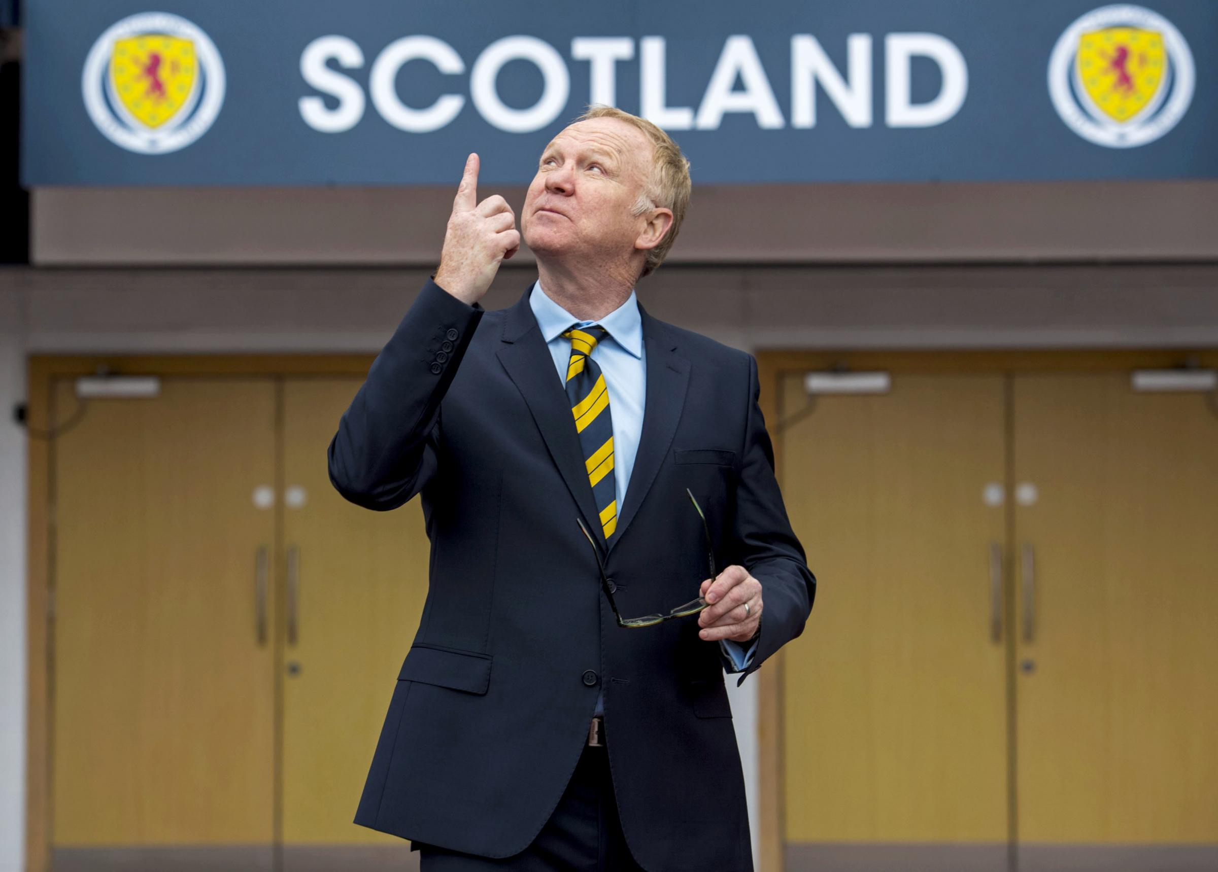 16/02/18. HAMPDEN PARK - GLASGOW. New Scotland Head Coach Alex McLeish is unveiled to the media..