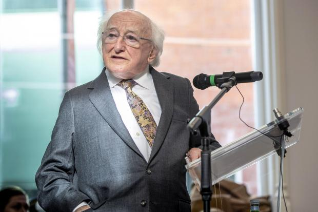 The National: Irish president Michael D Higgins