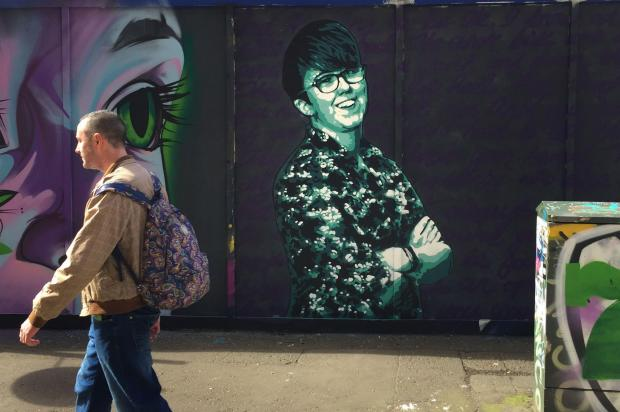 The National: A mural of Lyra McKee in Belfast city centre