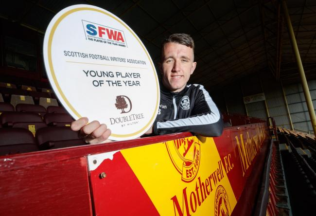 Free picture:SUNDAYS ONLY:  SFWA Scottish football writers Association ,.Young Player of the Year Award (as voted by Scottish Football writers) goes to David Turnbull of Motherwell.