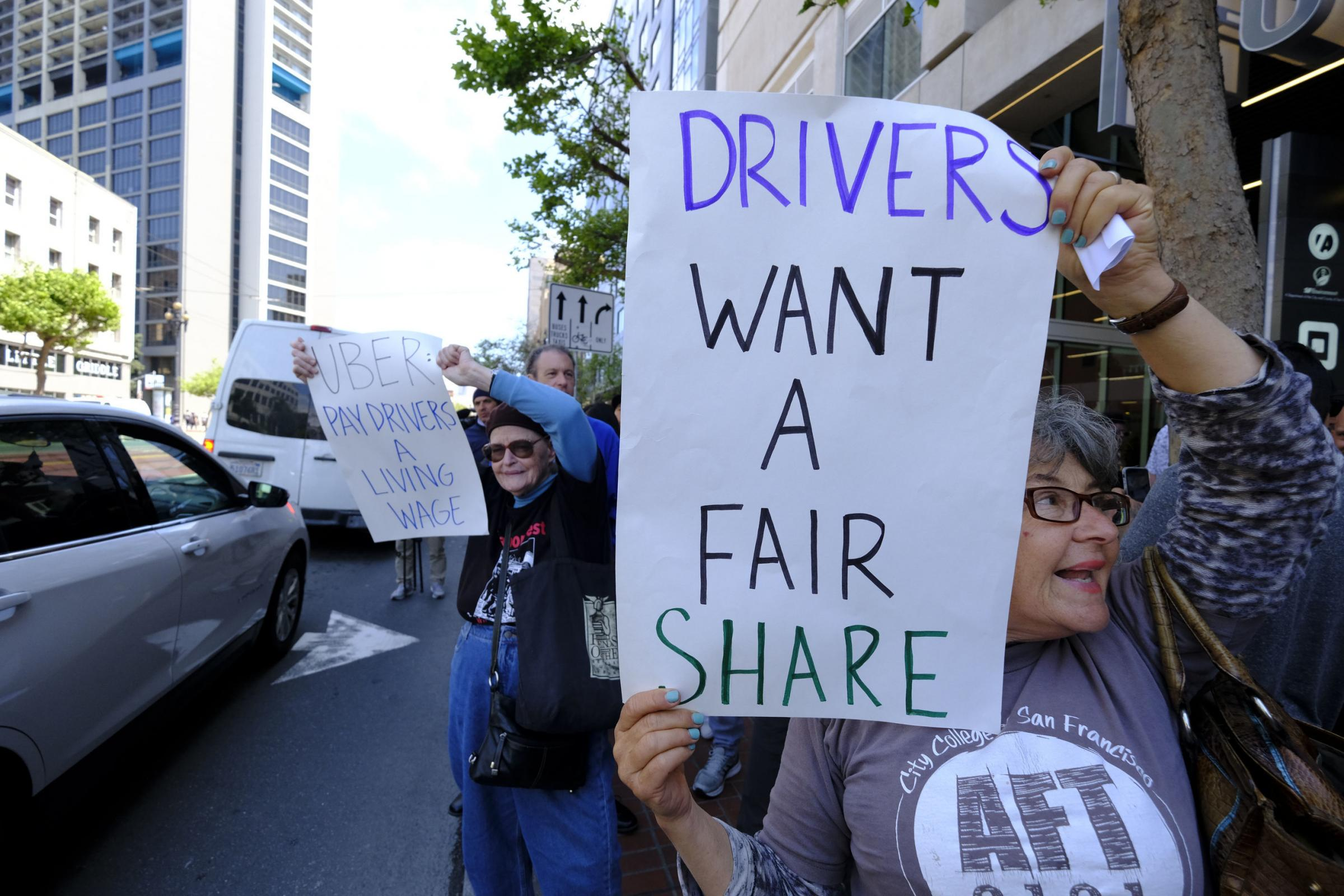 Uber drivers went on strike – creating one of the first ever digital picket lines