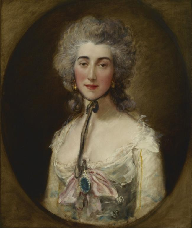 A Thomas Gainsborough portrait of Grace Elliott