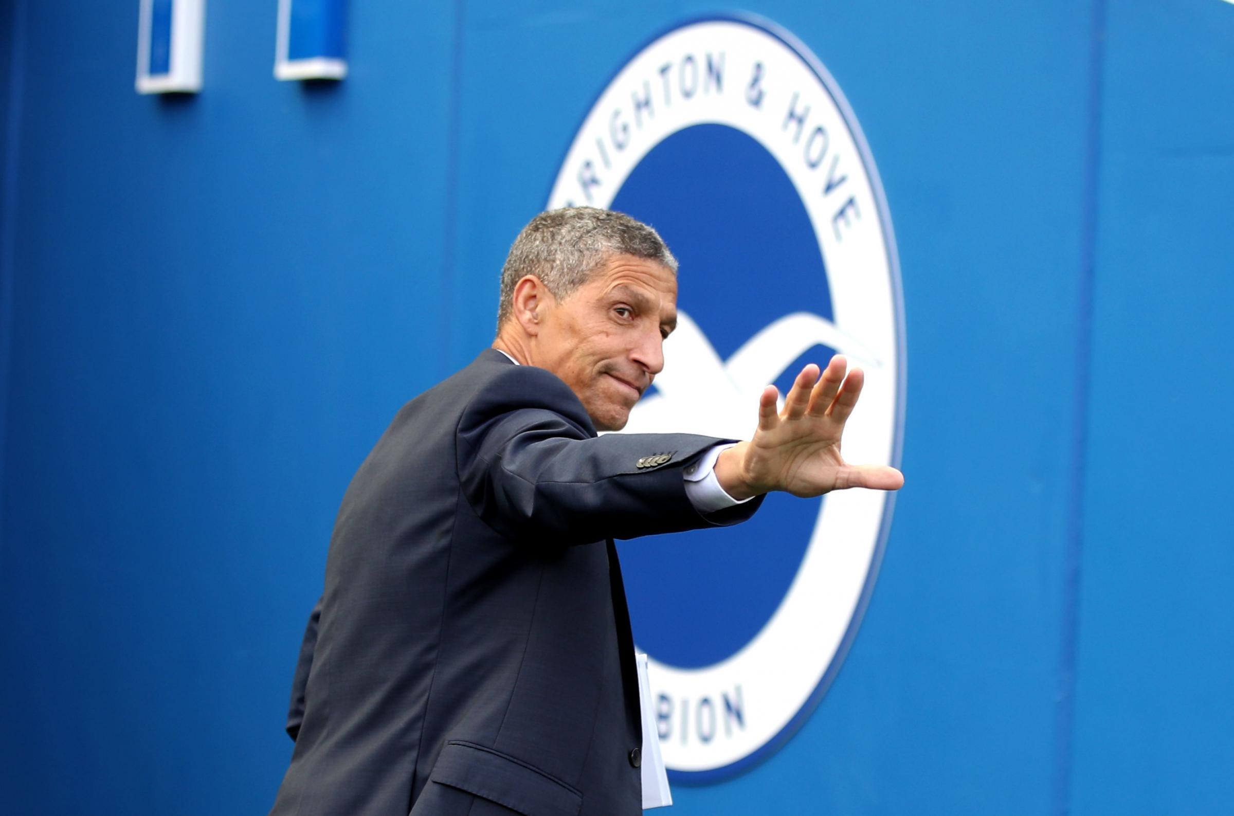 Brighton & Hove Albion manager Chris Hughton. Picture: Nick Potts/PA Wire.