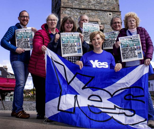 Yes Speyside Glenlivet set up a gazebo and gave copies of The National out