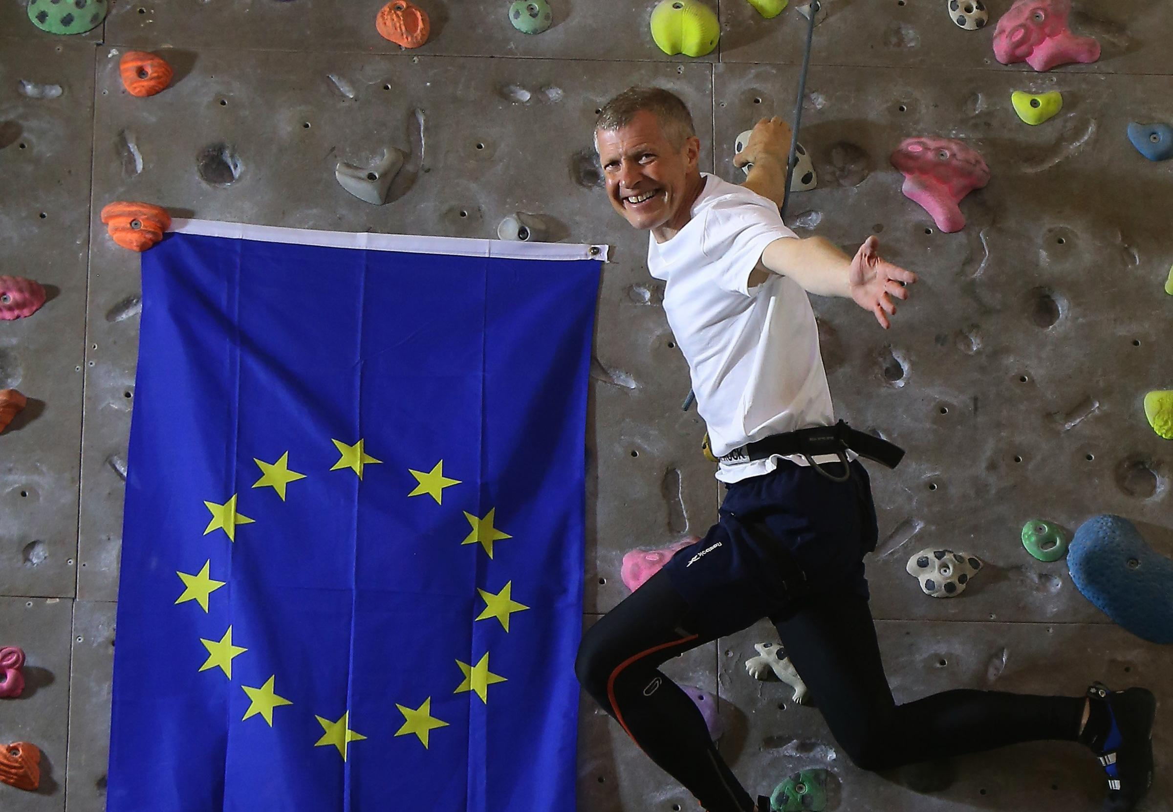 Scottish LibDem leader Willie Rennie at Alien Rock in Leith. Photograph: Gordon Terris