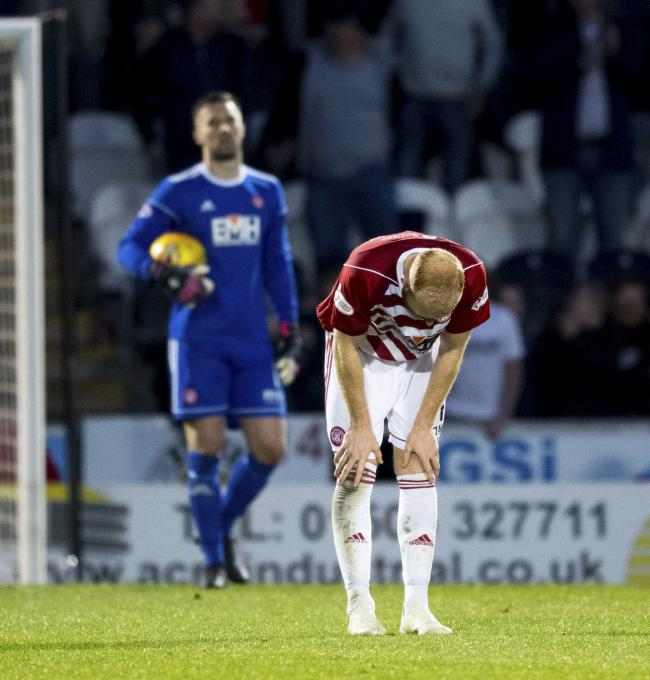 Ziggy Gordon was crestfallen as Hamilton failed to secure their Premiership safety at St Mirren on Monday night.
