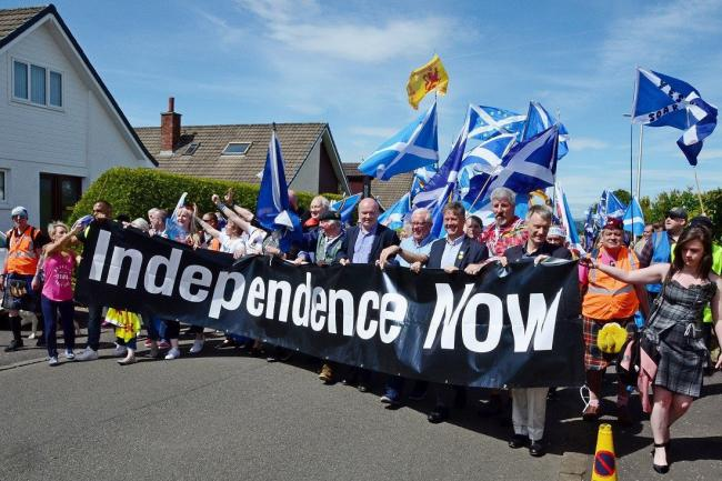 SNP depute leader Keith Brown was among those who marched in Glasgow earlier this month