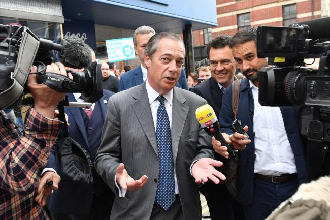 Nigel Farage is campaigning for the Brexit Party ahead of the EU Parliament elections