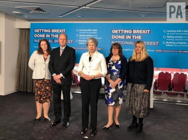 Theresa May has been on the campaign trail in Bristol
