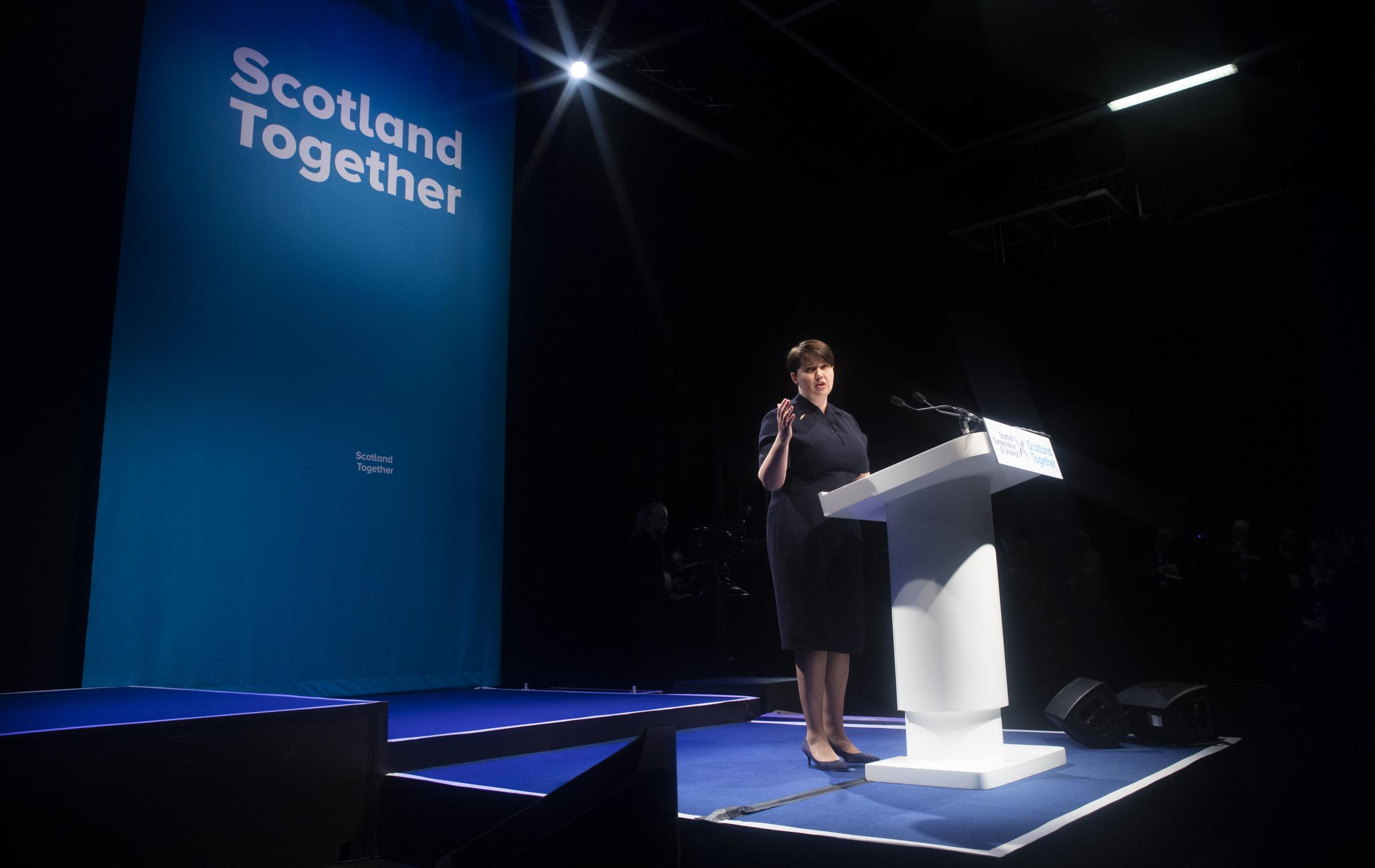 Scottish Tory leader Ruth Davidson outlined her ambitions as polls forecast a heavy defeat for her party