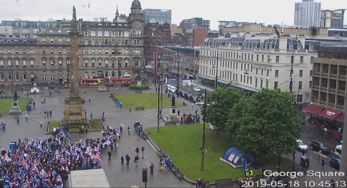 Unionist march organisers admit pitiful attendance at Glasgow event