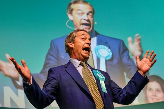 Nigel Farage headlines his Brexit Party event in Edinburgh