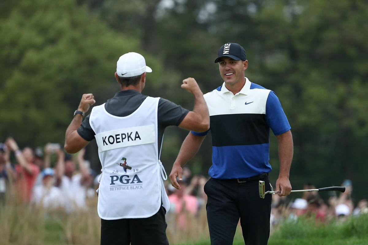 63ca20a26 Brooks Koepka survives final day scare to win US PGA title | The ...