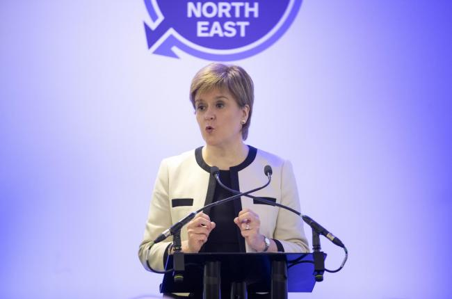 Nicola Sturgeon spoke in Dublin today