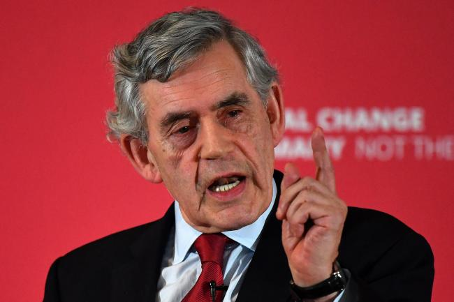 Gordon Brown made the claim after a YouGov poll suggested 16% of Scots feel the country is united