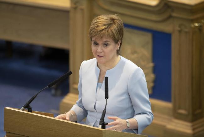 Nicola Sturgeon hit out at the Tory leader during FMQs
