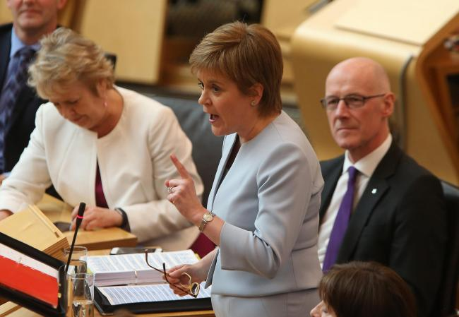 First Minister Nicola Sturgeon said her Tory opponent was now an 'arch-Brexiteer'