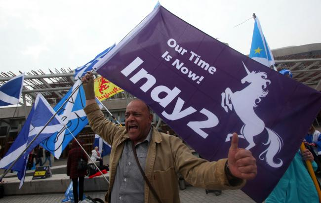 The study found that a No-Deal Brexit is likely to increase support for independence. Photograph: Gordon Terris