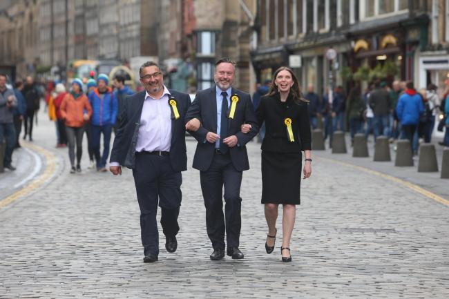 From left: SNP MEPs Christian Allard, Alyn Smith and Aileen McLeod