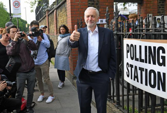 Labour leader Jeremy Corbyn leaves after voting at a polling station in Islington, north London, for the European Parliament elections. PRESS ASSOCIATION Photo. Picture date: Thursday May 23, 2019. See PA story POLITICS Elections. Photo credit should read