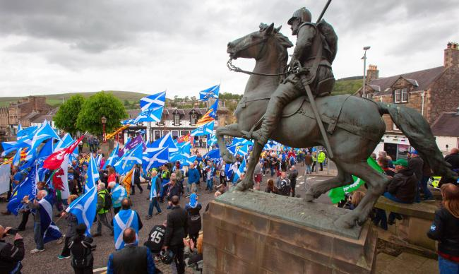 Thousands gathered for a Borders indy march