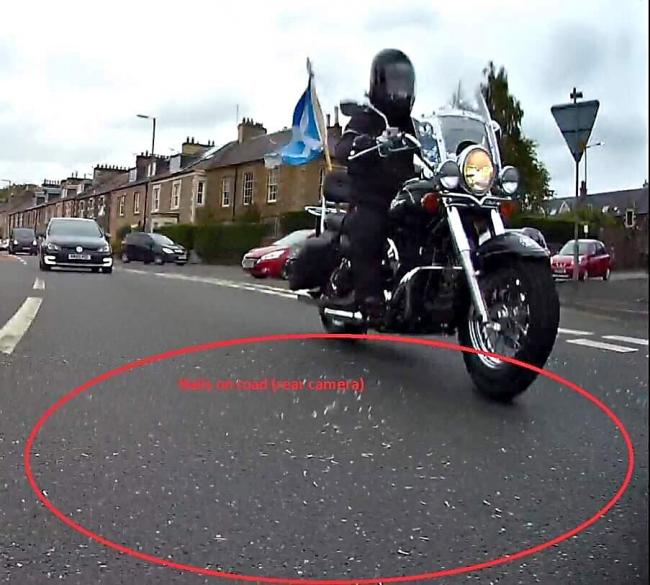 Pictures show that the attempt to stop and possibly hurt and maim the Yes Bikers was deadly serious